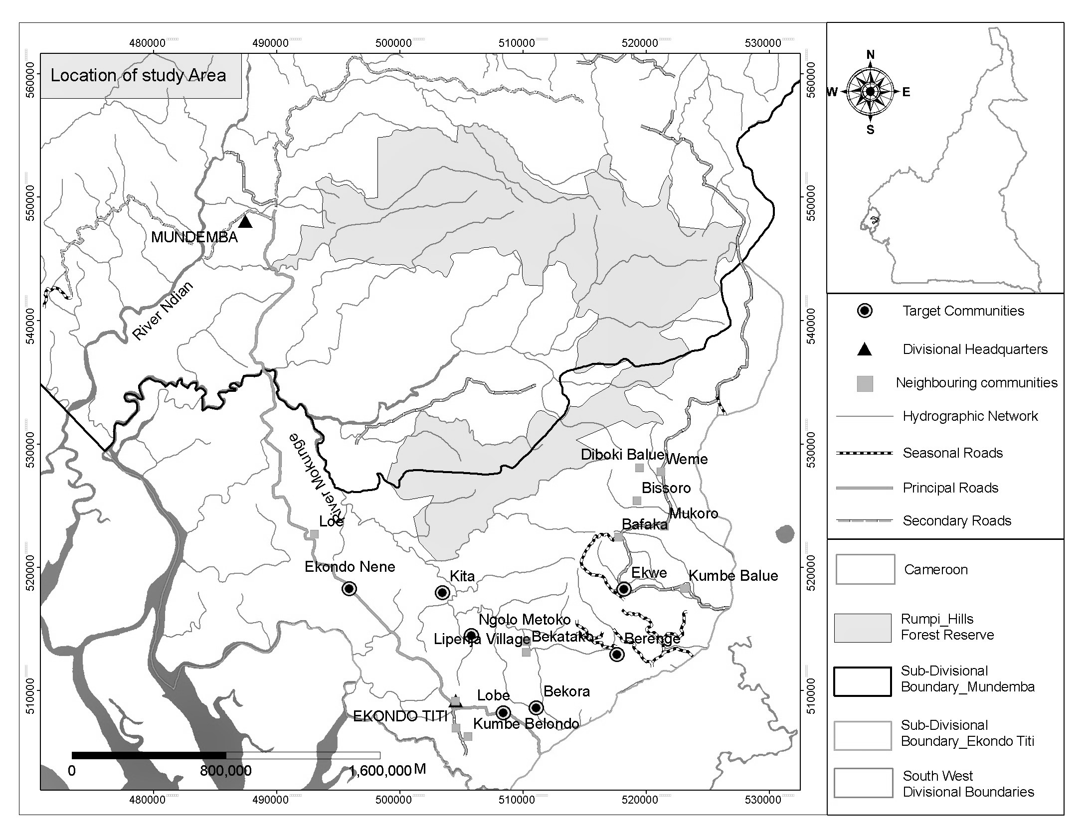 Adaptation of women to climate variability in the southern slopes map of study area and target villages figure 1 from page 2 273 gumiabroncs Gallery