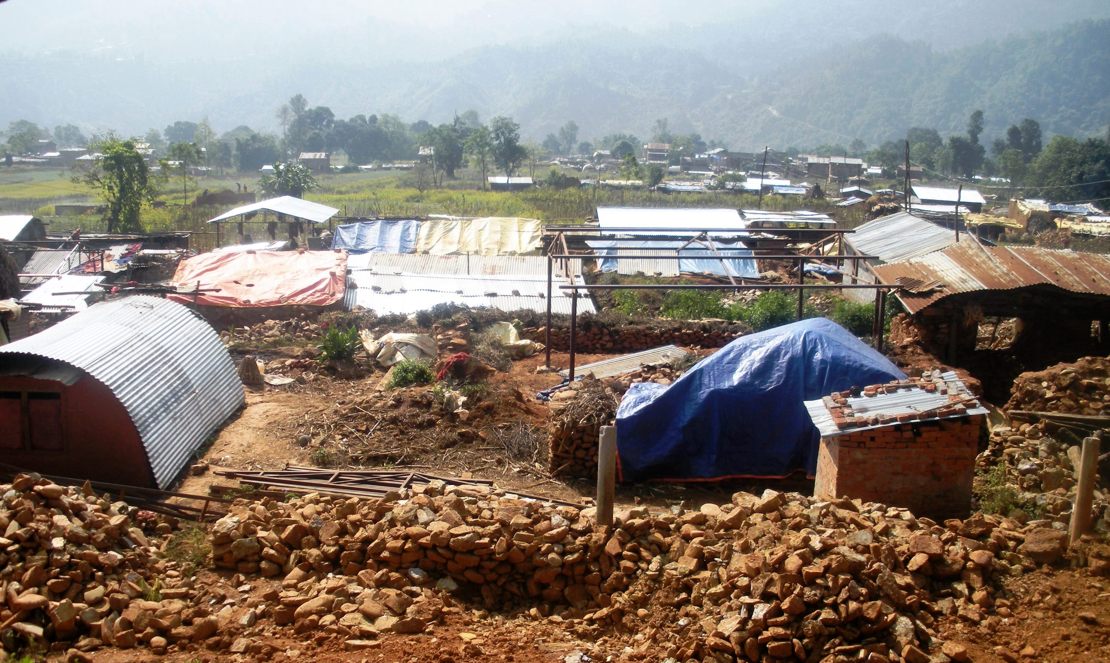 The view of Majhi community after the earthquake in 2015