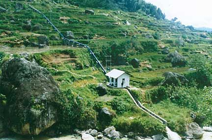 Microhydro power system in Indonesia