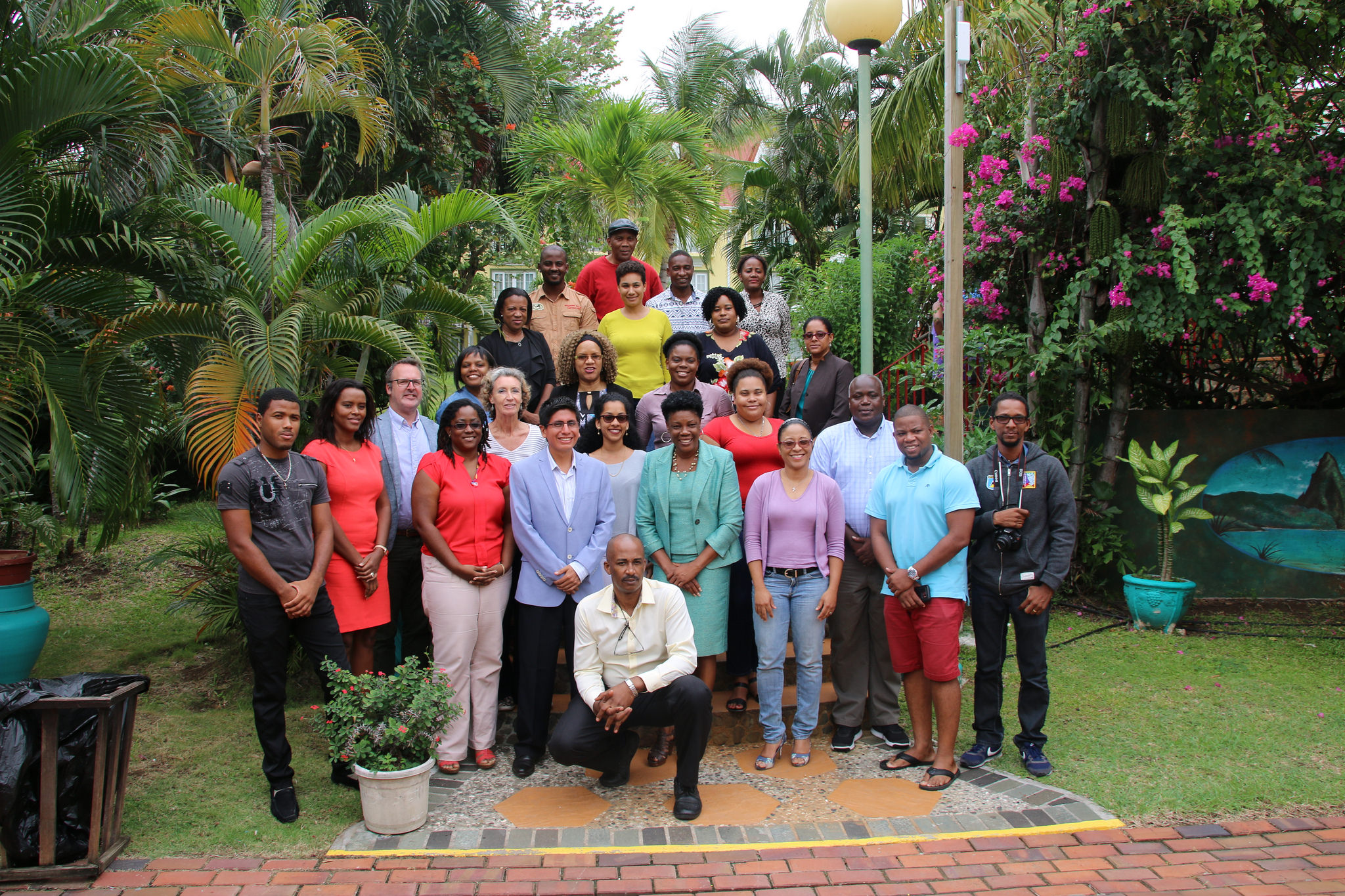 "Participants in the June 2017 workshop ""Understanding Climate Change Adaptation in the Saint Lucia Context: A briefing for journalists"" in Castries."