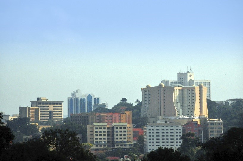 Kampala, Uganda: skyline, hotels and office towers - photo by M.Torres