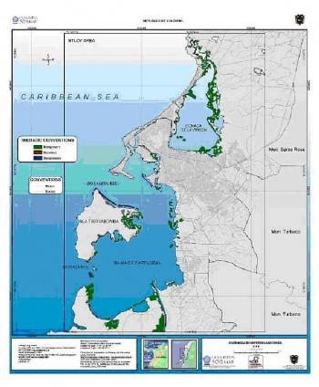 Cartagena De Indias System Description WeADAPT - Cartagena de indias map