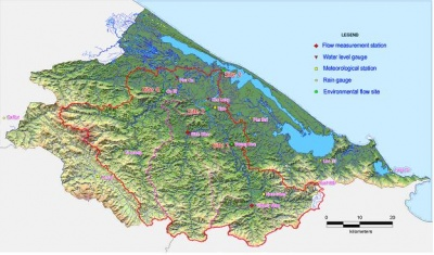 Figure 2: Thua Thien Hue topography and the Huong River Basin