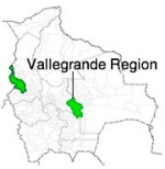 Map showing Vallegrande