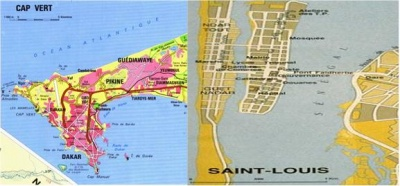 Figure 4: Vulnerable Roads in the Vicinity of Dakar and Saint-Louis