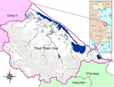 Figure 1: Location of Thua Thien Hue province in Vietnam and the surrounding regions(Source: Phong Tran et al. 2007)