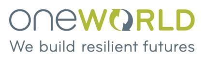 OneWorld Logo: we build resilient futures