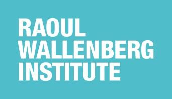 Raoul Wallenber Institute logo: turquoise backgroun with Raoul Wallenberg Institute written in capital letters in white with on word per line.