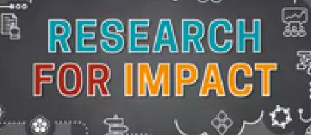 Research for Impact coursera logo: title of course on grey background