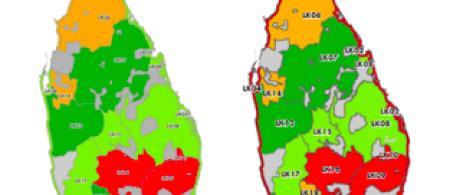 maps of sri lanka