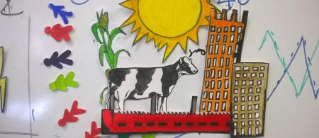 Image of sun and cow