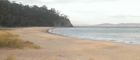 Looking north along Kingston Beach