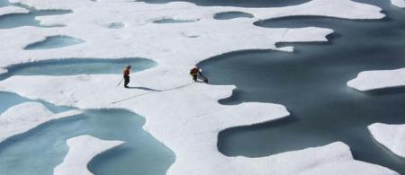 arctic rrmelting ice - climate adaptation.
