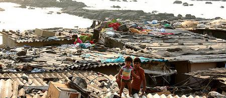 Bombay informal settlement, credit: Jeremy Weate