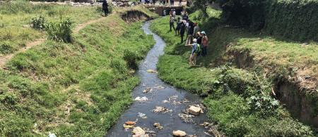 Durban river site visit (Photo credit: Alice McClure)