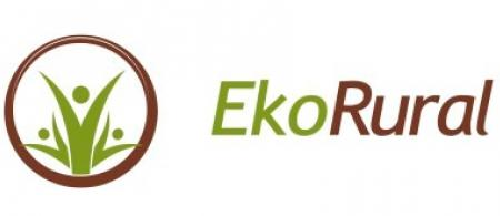 The logo is a brown ring with three green people in the centre with their arms raised.
