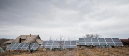 moldova marinici - mounted solar panels at ocara stefan dumitru peasant farm 03 - february 2016 - cco - climate adaptation.