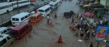 Flooding in Accra, Ghana, June 2015. Photo courtesy of pulse.com.gh