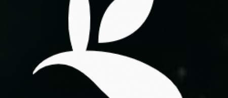 The logo is a silhouette of three leaves.