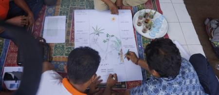 Farmers at a climate field school in Bali