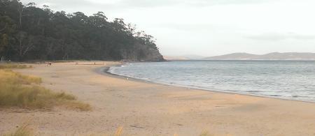 Looking north along Kingston Beach