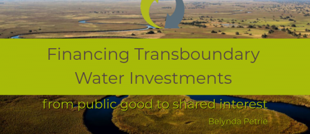 financing transboundary water investments