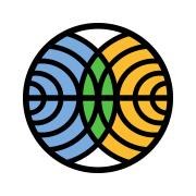 Lofo of FMI: a circle with circles, blue, green and orange