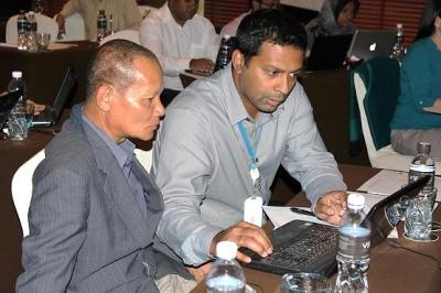 Training in session at the first regional workshop held in Bangkok, Thailand in March 2013