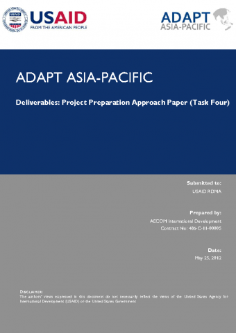 USAID Adapt Asia-Pacific Project Preparation Approach Paper