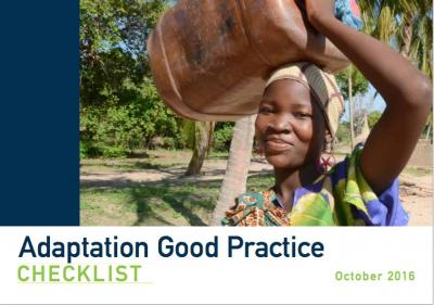 Adaptation Good Practice Checklist cover