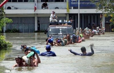 Severe flooding in Thailand