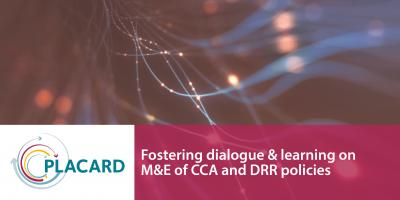 sparkles Fostering dialogue and learning on M&E of CCA and DRR policies