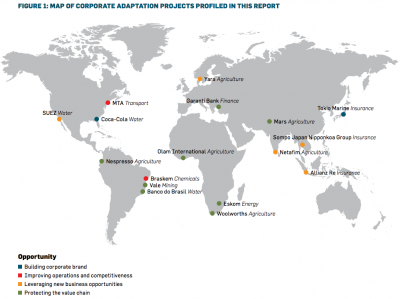 Map of Corporate Adaptation Projects and Opportunities