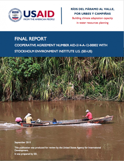 colombia watersheds fp - climate adaptation.