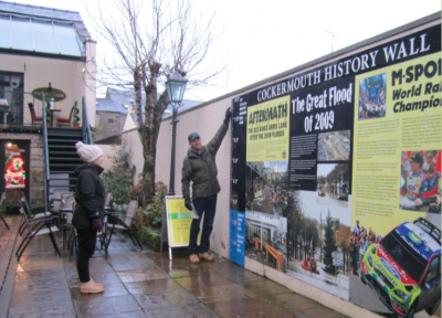 The Cockermouth History Wall