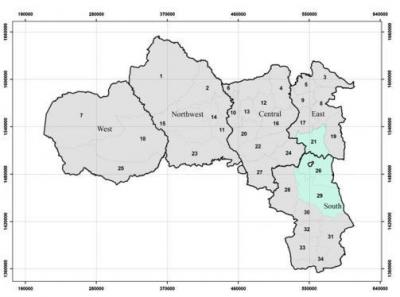 Map Fig of location of the study sites in Tigray region, northern Ethiopia