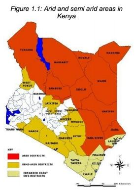 Image of Arid and semi arid areas in Kenya diagram
