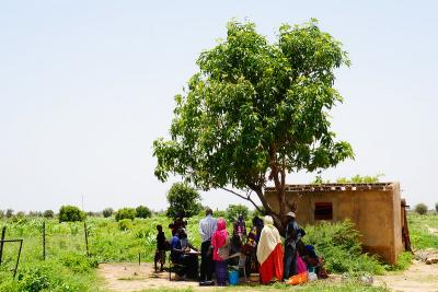 Discussion group with women farmers in Wendu Bosseabe Senegal