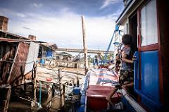 Thai fishing scene