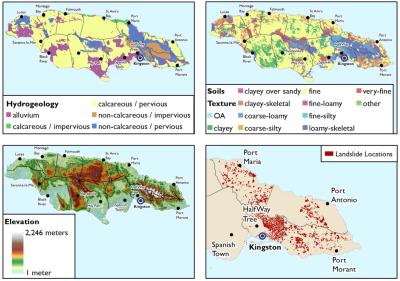 Figure 17. Biophysical factors considered when determining landslide risk