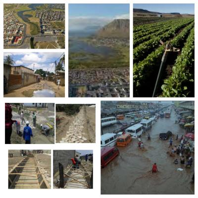 Images of climate problems and solutions in Africa.