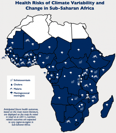Health Risks of Climate Variability and Change in Sub-Saharan Africa