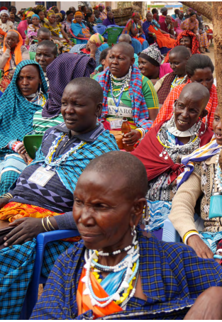 African women gathered at a meeting