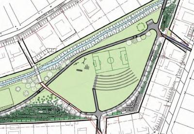 Schematic drawing of a pocket park in the eThekwini Municipality