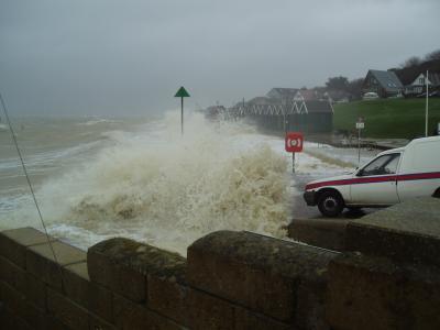 UK coastal flooding