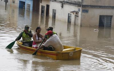 Flood in a Colombian city