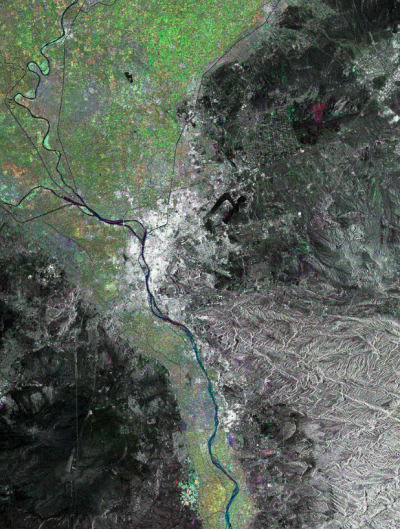 a satellite image shows the Nile Delta