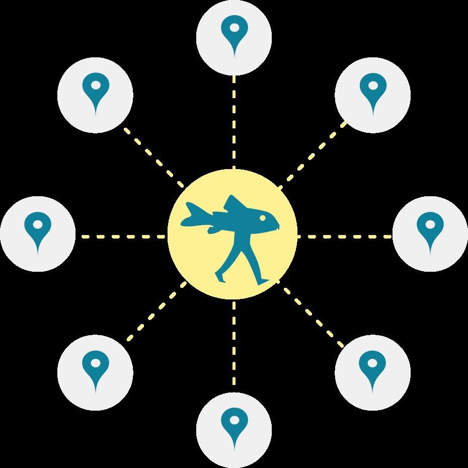 Representation of the weADAPT network