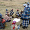Community mapping exercise in Lesotho: Photo Anna Taylor