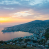 Overview of an Albanian city